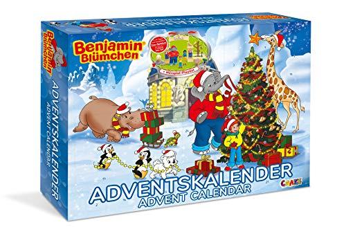 CRAZE Adventskalender Benjamin Blümchen 2020 Weihnachtskalender für Mädchen und Jungen Spielzeug Kalender tolle Inhalte 19498