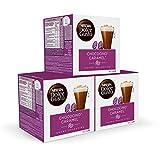 Nescafé DOLCE GUSTO Cacao CHOCOCINO CARAMEL - Pack de 3 x 16 cápsulas - Total: 48 Cápsulas