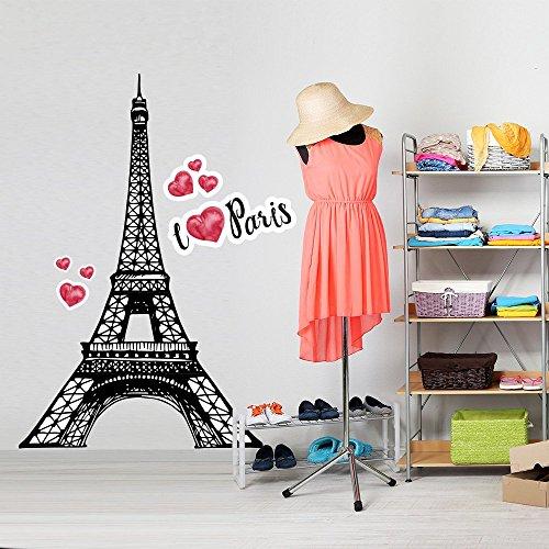 wall art CD0025 Stickers muraux imprimé sur papiers Peints I Love Paris