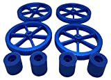 3DPLady Artillery Sidewinder X1 y Genius - Tuercas niveladoras de aluminio mejoradas + amortiguador de silicona (amortiguador de silicona azul)
