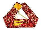 MAKOTO Silk Sword Bag for Japanese Katana, Wakizashi and Chinese Tai Chi Swords (Crab Claw on Red)