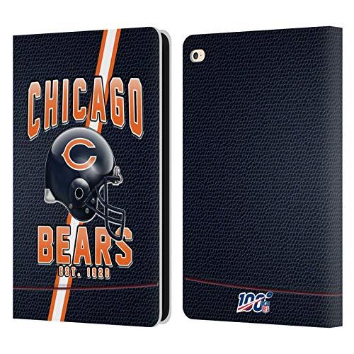 Head Case Designs Oficial NFL Bandas de fútbol 100 2019/20 Chicago Bears Carcasa de Cuero Tipo Libro Compatible con Apple iPad Air 2 (2014)