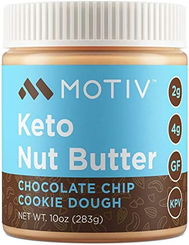 MOTIV Keto Nut Butter Low Carb Almond Cashew Butter Chocolate Chip Cookie Dough Natural Unsweetened product image