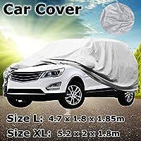 車カバー SUVのフル車が雪の氷の日雨耐性保護防水防塵屋外屋内カーカバーL/XLサイズをカバー (Size : XL)