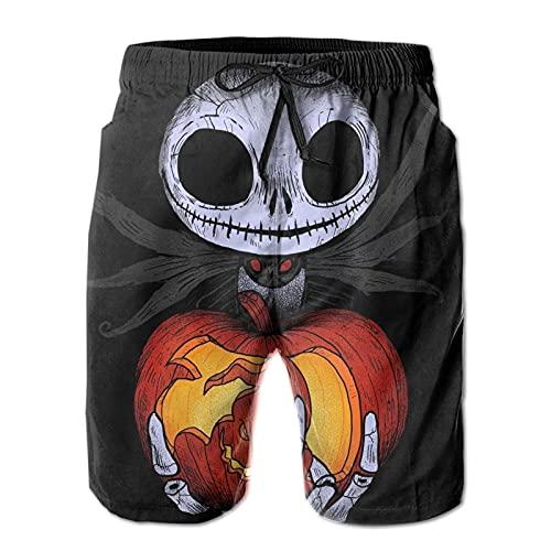 Hkdfjg Pesadilla Antes de Navidad Pantalones cortos de natación para hombre, pantalones de playa, para verano, vacaciones, gimnasio, correr, correr