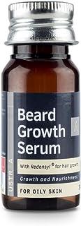 USTRAA Beard Growth Serum - For Oily Skin - 35ml - Beard growth for oily skin with Redensyl, Beard nourishment and moistur...
