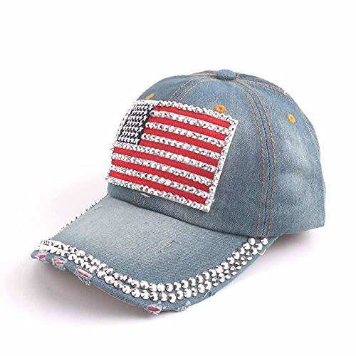LLSB Gorra De Béisbol para Mujer para Hombres, Mujeres, Gorra Snapback, Gorras De Bandera Americana del Ejército para Hombres, Gorras De Camionero De Hueso, Gorras Lightdenim