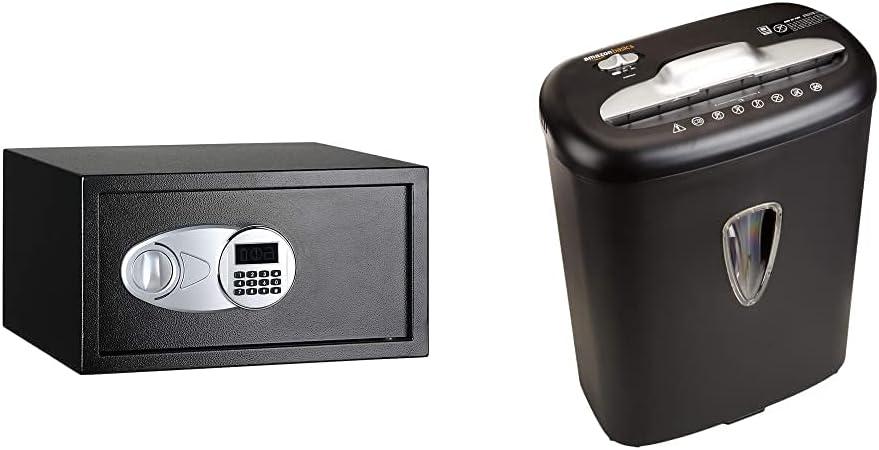 Amazon 迅速な対応で商品をお届け致します Basics Steel Security Safe Lock - Fee Black Cubic Box ストアー 1