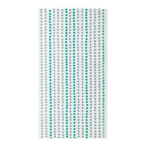 IKEA JANNIKE -Flächenvorhang weiß türkis - 60x300 cm