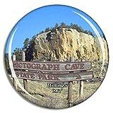 Weekino Pictograma Billings Cave State Park Montana Estados Unidos Imán de Nevera 3D de Cristal de la Ciudad de Viaje Recuerdo Colección de Regalo Fuerte Etiqueta Engomada refrigerador