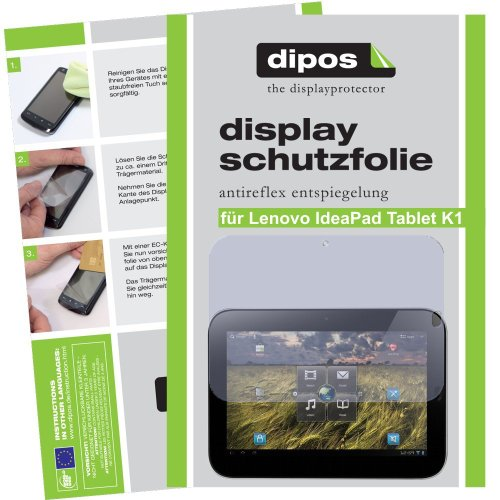 Dipos Protector de pantalla antirreflectante compatible con Lenovo IdeaPad Tablet K1