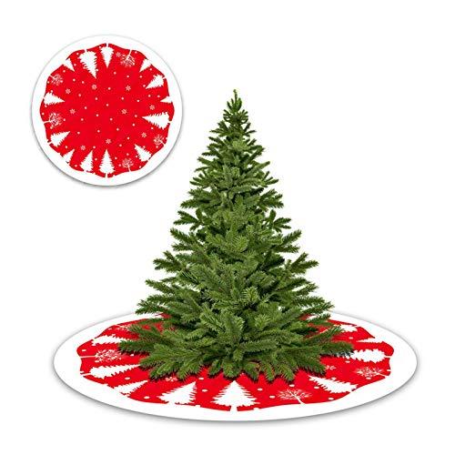 Weihnachtsbaum Rock Runde - Baumdecke - Tannenbaum-Unterlage mit Weihnachtsmotiv - Weihnachtsbaum Decke - Rutschfeste Weihnachtsbaum Matte Pad 84CM Weihnachtsbaumrock mit Schneeflocken Baummuster