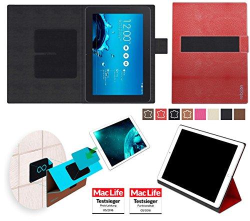 reboon Hülle für Asus Transformer Pad TF303CL Tasche Cover Case Bumper | in Rot Leder | Testsieger