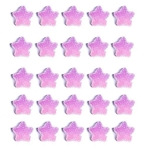 litulituhallo 25 gránulos decoración de uñas 3D fruta flor Fimo rebanadas para slime, manualidades, degradado púrpura