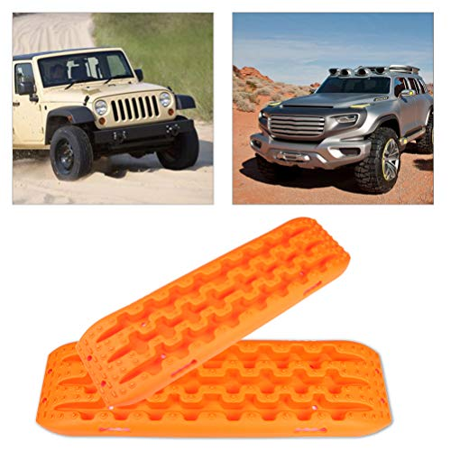 TUPARTS Wheels Recovery Traction Tracks Boards Mats Off-Road Sand Snow Tire Ladder (Ofor Range)