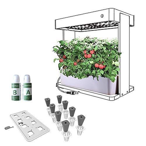 Hydroponisches System Smart Indoor Gartenanlage mit LED-Anlage wachsen Licht hydroponischen Systems Growing Set (Farbe : Weiß, Größe : Einheitsgröße)