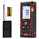 Laser Measure 229Ft M/In/Ft Laser Measurement Tool with 2 Bubble Levels, Backlit LCD and Pythagorean Mode, Distance Measure, Area and Volume-Carry Pouch and Battery Included