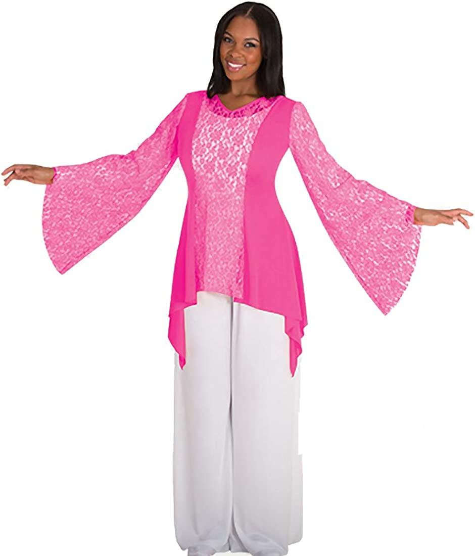 Body 70% OFF Outlet supreme Wrappers Drapey Lace Panel Tunic.
