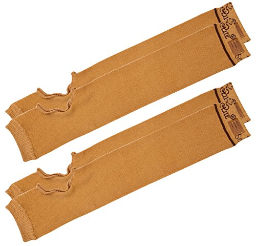 SecureSleeves (2 Pairs) Geri Sleeves for Arms, Brown - Protects Sensitive Skin from Tears & Bruising (Large: 16.5