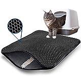 AcserGery Alfombrilla de arena para gatos con doble capa para arenero con panal (45 x 60)