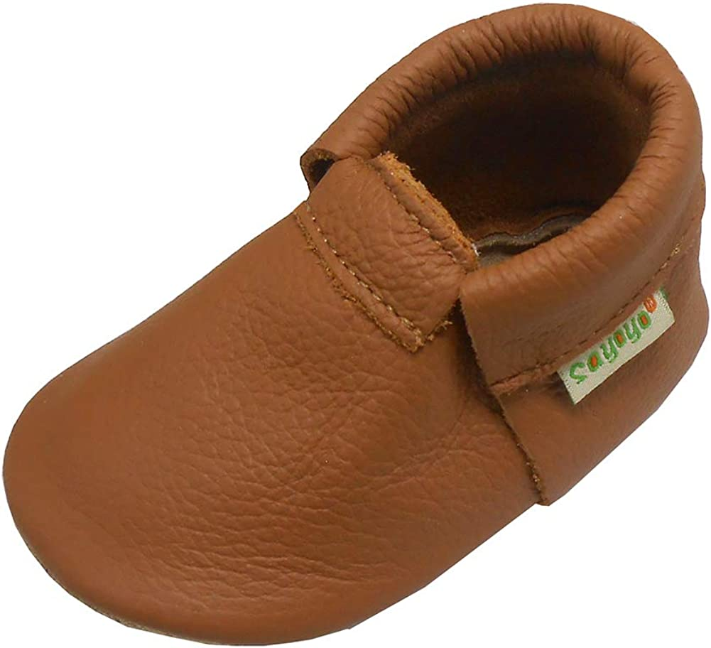 SAYOYO Baby Soft Sole Leather Infant and Toddler Prewalker Shoes