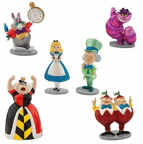 Disney(ディズニー) Alice in Wonderland Figure Play Set 不思議な国のアリス フィギュアセット [並行輸入品]