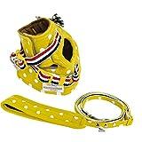 ラディカ N5007 犬 ネコ 兼用 ドットキャットストロールソフトハーネス&リード ドットイエロー(8) M
