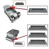 Flycoo Batterie Charging Port Couvertes Chapeau Protecteur Anti-poussière Bouchon for DJI Mavic Pro (3 ×pour Batterie + 1 ×pour Drone, Gris)