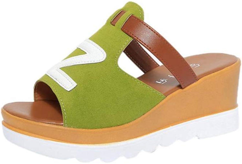 T-JULY Women Slipper Summer Solid Wedges Peep Toe Flatform shoes Rubber Med Heel Basic Comfortable Sandals