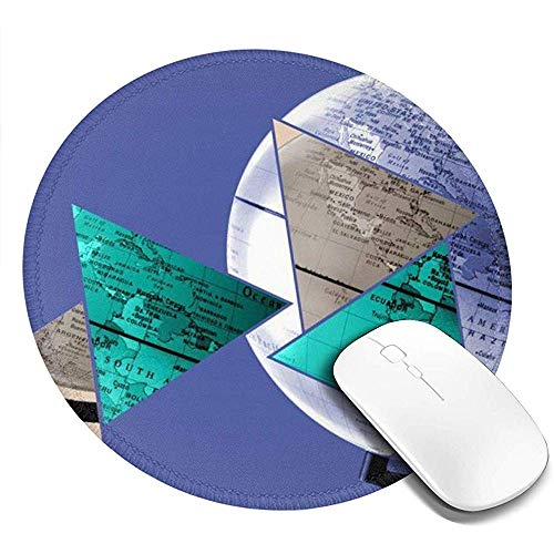 Rubberen antislip ronde muismat - bedrukken de gaming-muismat met wereldbol voor computerlaptops