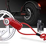 TOMALL Red Disc Brake Lock Anti-theft Steel Wire Lock For Xiaomi Mijia M365