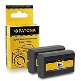 CELLONIC 2X Bater/ía Compatible con Nikon Coolpix 4300 Coolpix 4500 Coolpix 4800 Coolpix 5000 Coolpix 5400 Compatible con Konica Minolta DiMAGE A200 EN-EL1 NP-800 Cargador MH-53 BC-900 Pila Repuesto
