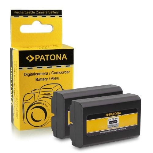 2x Akku / Batterie wie EN-EL1 für Nikon Coolpix 775 | 880 | 885 | 995 | 4300 | 4500 | 4800 | 5000 | 5400 | 5700 | 8700