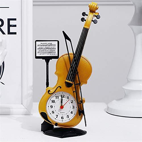 Kreative Student Desktop Dekoration Uhr Große Tragbare Klavier Kunststoff Wecker Gelb