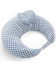 iOCHOW 授乳クッション 綿 ポリエステル繊維 45°科学授乳 クッション ミニ枕は取り外せる 56x50x20cm チェック柄