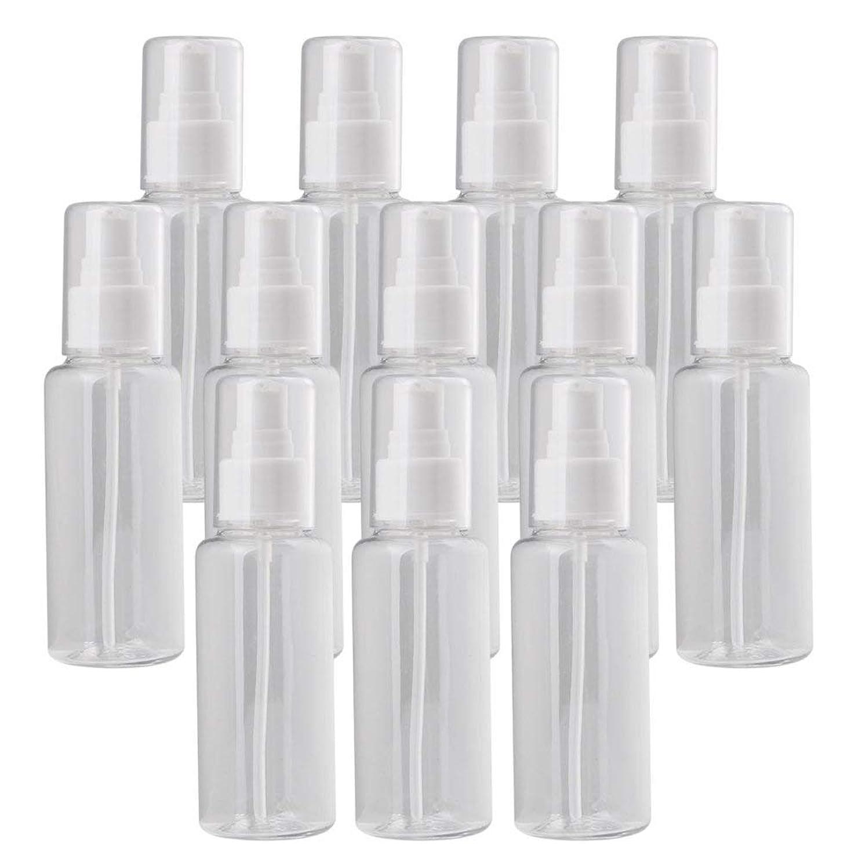 無許可言う完璧なDiystyle 12個入 小分けボトル 100ml 液体用空容器 押し式 プラスチック製 詰め替え 化粧品収納 保存容器 クリア