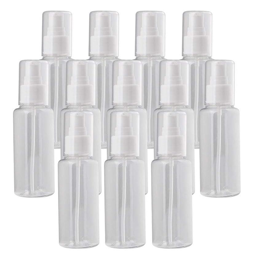 測る体操攻撃Diystyle 12個入 小分けボトル 100ml 液体用空容器 押し式 プラスチック製 詰め替え 化粧品収納 保存容器 クリア
