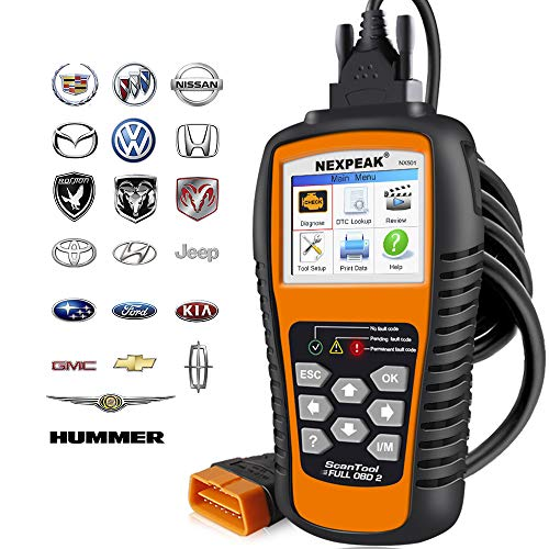 NEXPEAK OBD2 Scanner NX501 Enhanced OBD II Auto Code Reader Car Diagnostic Scan Tool Vehicle Check Engine Light Analyzer for All OBDII Vehicles After 1996