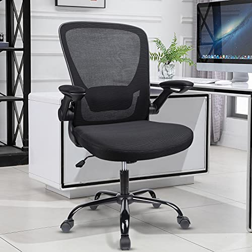 Komene Home Office Chair, Ergonomic Desk Chairs, Adjustable Computer Chair with Flip Up Armrests and...