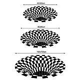 Wishstar 3D Illusion Teppich, Optischer Täuschungsteppich Teppich, Runder Mandala-Teppich Für Wohnzimmer Schlafzimmer Flur Läufer Esszimmer Teppich Fußmatte Anti-schlittern Non Shedding - 5