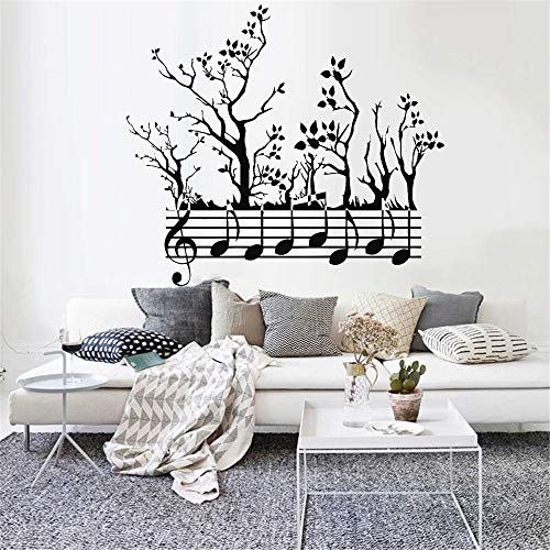 HGFDHG Adhesivo de Pared Vinilo clásico Bosque Rama música decoración Sala de Estar