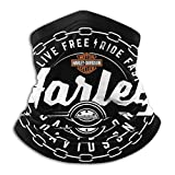 Custom made Cache-cou en microfibre Harley Davidson - Bandana - Pour l'extérieur - Doux - En microfibre