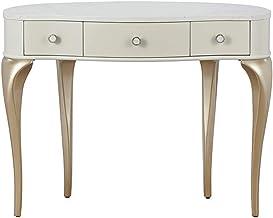 Dressing Table Set, 3 Folding Mirror Makeup Dressing Table, 3 Dressing Tables with Drawers, Cushioned Velvet Stool, Bedroo...