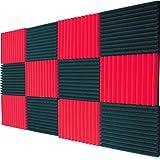 12 Pack Acoustic Panels Studio Foam Wedges 1' X 12' X 12' Color...