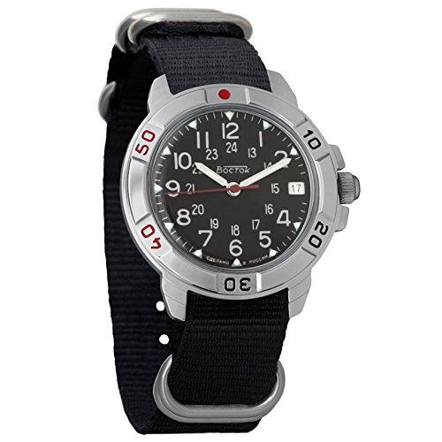 Vostok Komandirskie Reloj de pulsera mecánico para hombre militar #782/783, Classic
