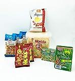 IDEA APERITIVO- APERIBOX 1 Busta più gusto pomodoro+ Movida Mexicanos+2 Bustine Nic Nac's Lorenz+ Fatina Snack Mexican , Arachidi Paprika, Rice Crackers + Cameo Arachidi Tris..