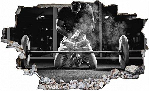 Bodybuilder Fitness Training Wandtattoo Wandsticker Wandaufkleber C0625 Größe 70 cm x 110 cm