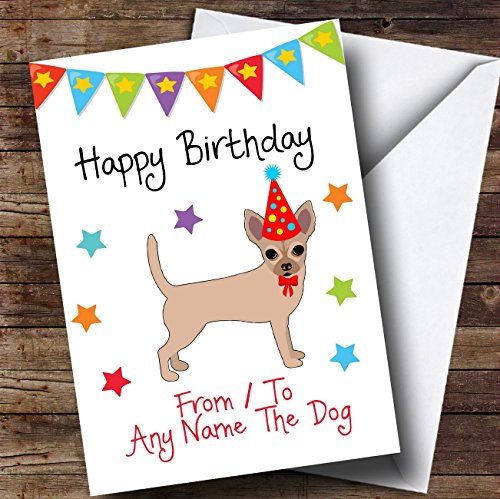 naar van Dog Chihuahua Gepersonaliseerde Verjaardagskaart