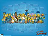 Pyramid America The Simpsons Animated Cartoon TV Show Sitcom Cast Thick Cardstock Poster 24x18 inch
