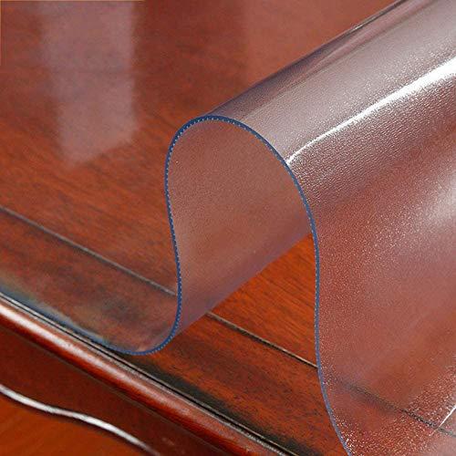 KEANCH Cubierta de Mesa Transparente de PVC para Mesa, Mantel De PVC Transparente De Cristal, Plástico Antideslizante, Flexible, Sin Olor, Decoración De Fiesta(Size:135x175cm,Color:2mm)